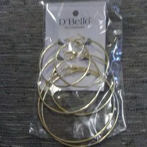 Goldtone Hoop Earings